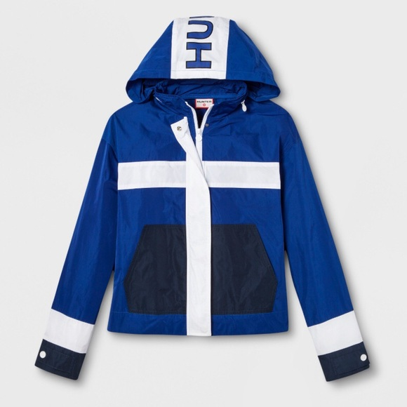 3533e36aa Hunter for Target blue zip windbreaker jacket XL NWT